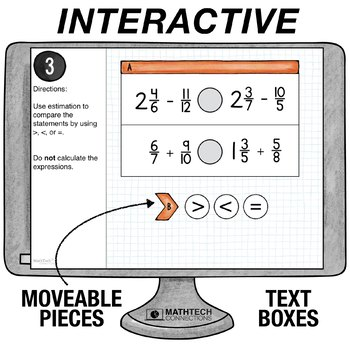 Add and Subtract Fractions - 5th Grade Paperless Math Center