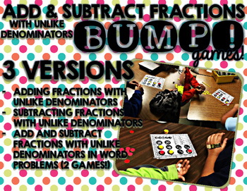 Add and Subtract Fractions   BUMP Games