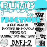 Add and Subtract Fractions BUMP Games | 5.NF.1 & 5.NF.2