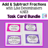 Add and Subtract Fractions Bundle