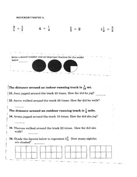 Add and Subtract Fractions Class Work