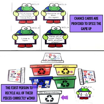 Earth Day Math Game - Add and Subtract Fractions Different Denominators