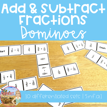 Add and Subtract Fractions Dominoes