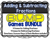 Fractions: Add and Subtract Fractions Games BUNDLE {8 Differentiated Games}