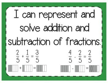 Add and Subtract Fractions Interactive Notebook Activity & Quick Check TEKS 4.3E