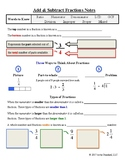 Add and Subtract Fractions & Mixed Numbers Notes