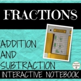 Add and Subtract Fractions Foldables for Interactive Noteb