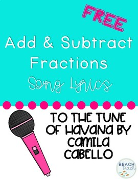 Add and Subtract Fractions Song