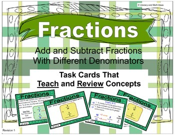 Add and Subtract Fractions With Different Denominators