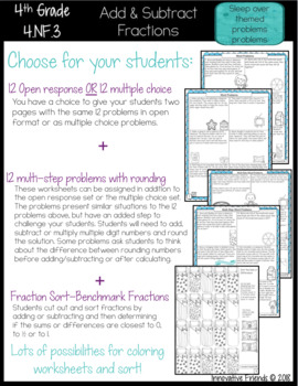 Add and Subtract Fractions Word Problems