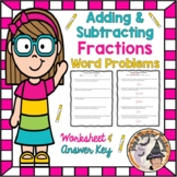 Adding and Subtracting Fractions Word Problems Add Subtrac
