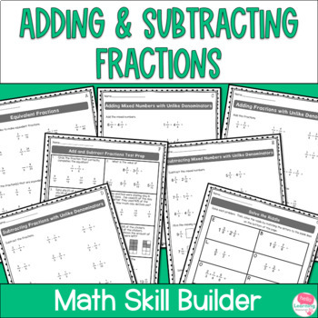 Add and Subtract Fractions Worksheets