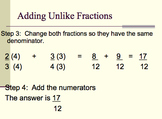 Add and Subtract Fractions and Find the Least Common Denominator