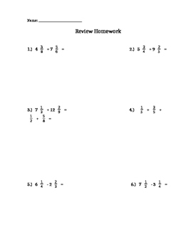 Add and Subtract Fractions and Mixed Numbers