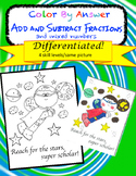 Add and Subtract Fractions and Mixed Numbers Differentiate
