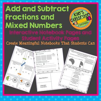 Add and Subtract Fractions and Mixed Numbers Interactive N