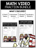 Add and Subtract Fractions and Mixed Numbers Math Video and Worksheet Bundle