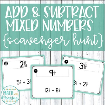 Rename Fractions And Mixed Numbers Teaching Resources | Teachers Pay ...