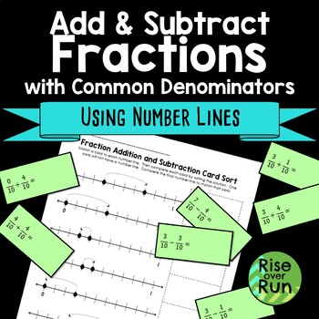 Add and Subtract Fractions on Number Lines