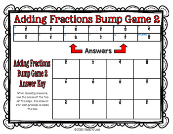 Fractions: Add and Subtract Fractions with Uncommon Denominators Games BUNDLE