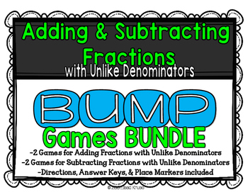 Adding and Subtracting Fractions Games BUNDLE