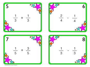 Add and Subtract Fractions with Common Denominators