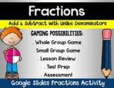 Add and Subtract Fractions Digital Google Activity
