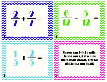 Add and Subtract Fractions with LIKE Denominators Task/Sco