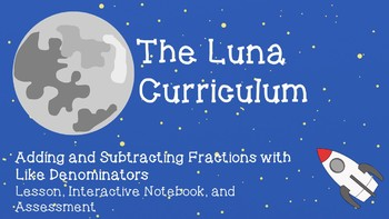 Add and Subtract Fractions with Like Denominators - Lesson, INB, and Assessment
