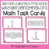 4th Grade Add and Subtract Fractions with Like Denominator