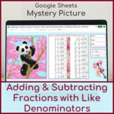 Add and Subtract Fractions with Like Denominators | Mystery Picture Panda