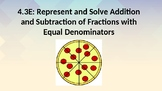 Add and Subtract Fractions with Like Denominators (TEK 4.3E)