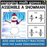 Add and Subtract Fractions with Same Denominators