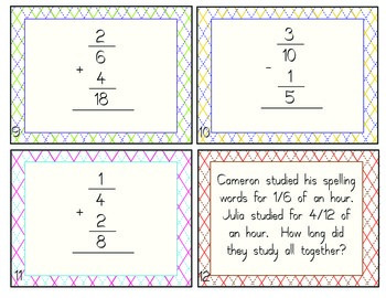 Add and Subtract Fractions with Unlike Denominators!