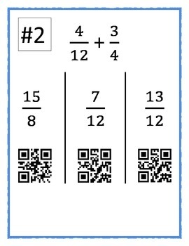 Add and Subtract Fractions with Unlike Denominators BYOD