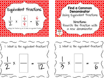 Add and Subtract Fractions with Unlike Denominators Bundle