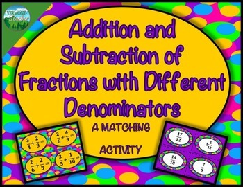 5.NF.A.1 Add and Subtract Fractions with Unlike Denominato