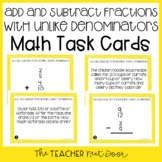 4th Grade Add and Subtract Fractions with Unlike Denominat