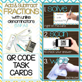 Add and Subtract Fractions with Unlike Denominators  QR Ta