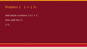 Add and Subtract Fractions with Whole Numbers