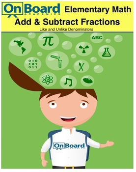 Add and Subtract Fractions with Like and Unlike Denominators-Interactive Lesson
