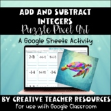 Add and Subtract Integers DIGITAL Puzzle Pixel Art | Distance Learning