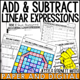 Add and Subtract Linear Expressions Lesson Bundle