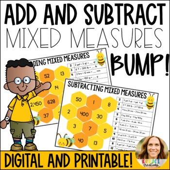 Add and Subtract Mixed Measures Bump Game