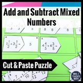 Add and Subtract Mixed Numbers Cut-Out Puzzle  4.NF.3c