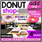 4th Grade Add and Subtract Mixed Numbers | Donut Room Tran