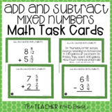 4th Grade Add and Subtract Mixed Numbers Task Cards | Mixed Numbers Center Game