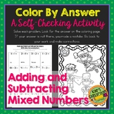 Add and Subtract Mixed Numbers with Like Denominators Color By Answer