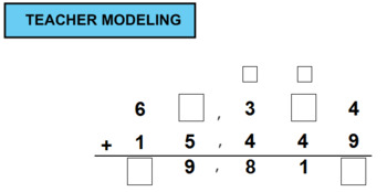 Add and Subtract Multi-Digit Whole Numbers With Missing Digits