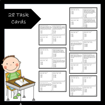 Add and Subtract Multi-digit Numbers Task Cards with Exit Slips